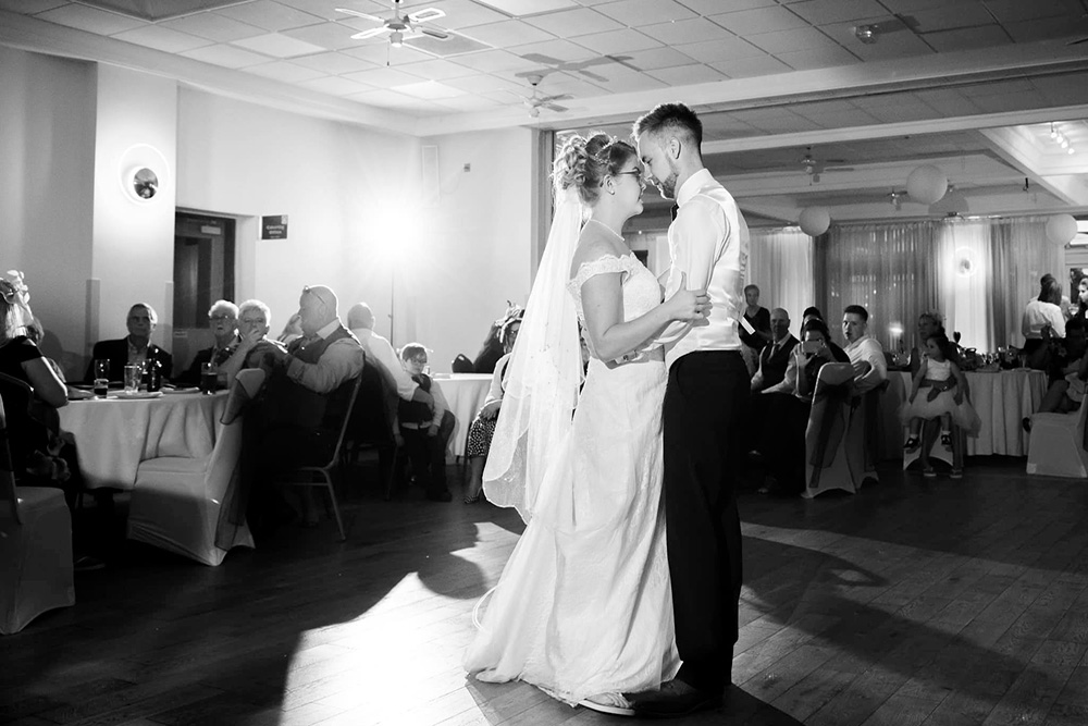 Chloe and declan dom white photography first dance